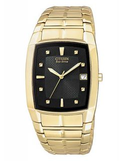 Citizen Mens Eco Drive Gold Tone Stainless Steel Bracelet Watch 31mm BM6552 52E   Watches   Jewelry & Watches