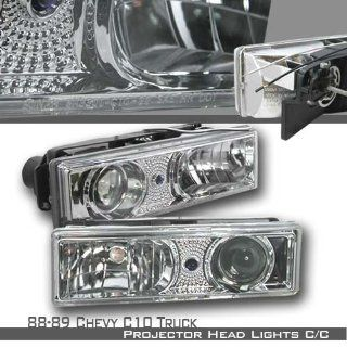 89 89 90 91 92 93 94 95 96 97 98 Chevy C/K 1500/2500/3500 Full Size/Tahoe/Suburban, GMC C10 Pickup/Suburban/Yukon Projector Headlights   Chrome (pair) Automotive