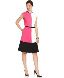 Anne Klein Sleeveless Colorblock Sheath   Dresses   Women