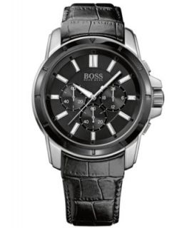 Hugo Boss Watch, Mens Brown Leather Strap 47mm 1512876   Watches   Jewelry & Watches