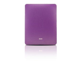 Dexim DLA144 Carbon Fiber Fabric Sleeve for iPad   Purple Computers & Accessories