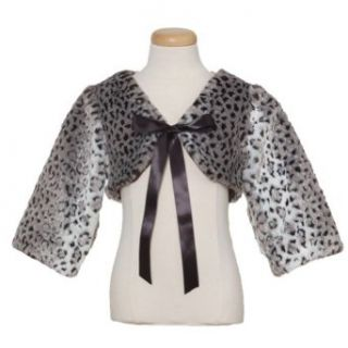 Peaches n Cream Faux Leopard Print Fur Bolero Jacket Little Girls 4 14 Peaches 'n Cream Clothing