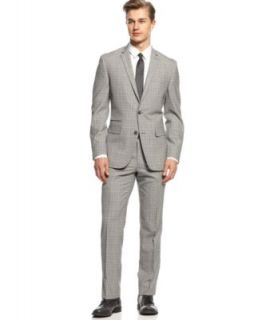 Bar III Carnaby Collection Suit Separates Light Blue Stepweave Slim Fit   Suits & Suit Separates   Men