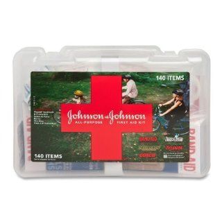 "Johnson&Johnson   First Aid Kit, All Purpose, 140 Items, 9 1/6""x6 1/2""x3, Sold as 1 Each, JOJ 110300900 Health & Personal Care"