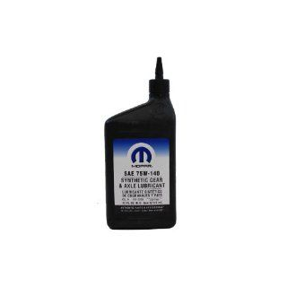 Genuine Mopar Fluid 4874469 SAE 75W 140 Synthetic Gear and Axle Lubricant   1 Quart Automotive