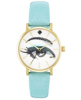 kate spade new york Watch, Womens Metro Turquoise Leather Strap 34mm 1YRU0267   Watches   Jewelry & Watches
