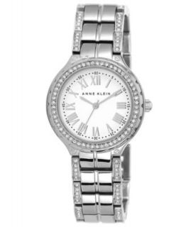 Anne Klein Watch, Womens White Ceramic and Silver Tone Bracelet 34mm AK 1419WTSV   Watches   Jewelry & Watches