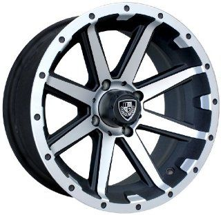 "Fairway Alloys FA136 Rebel Golf Cart Wheel with Flat Black Machined (14x6.5"") Automotive"