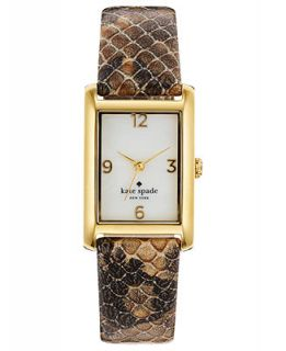 kate spade new york Watch, Womens Cooper Natural Snake Embossed Leather Strap 32x21mm 1YRU0188   Watches   Jewelry & Watches