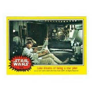 Star Wars card #134 1977 Topps Luke Dreams of being a star pilot Like Skywalker Entertainment Collectibles