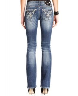 Miss Me Jeans, Bootcut Leg Studded, Medium Wash   Jeans   Women
