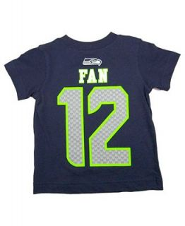 Outerstuff Toddlers Short Sleeve 12th Man Seattle Seahawks Big Number T Shirt   Sports Fan Shop By Lids   Men