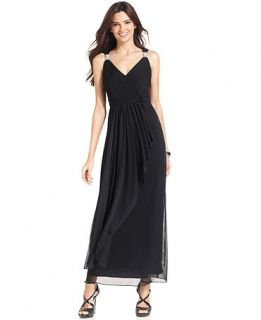 Alex Evenings Sleeveless Cascade Ruffle Gown   Dresses   Women