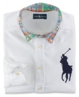 Ralph Lauren Kids Shirt, Boys Blake Long Sleeve Oxford Shirt   Kids