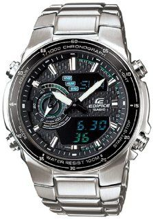 Casio Men's EFA131D 1A2V Silver Stainless Steel Quartz Watch with Black Dial Casio Watches