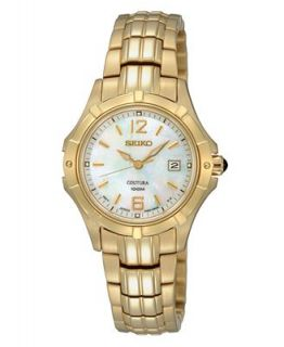 Seiko Watch, Womens Gold Tone Stainless Steel Bracelet 28mm SXDC94   Watches   Jewelry & Watches