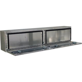 Locking Aluminum Top-Mount Truck Box — 72in. x 12in. x 16in. Size, 2-Doors  Top Mount Boxes