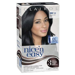Clairol Nice 'n Easy 2BB 124 Natural Blue Black 1 Kit (Pack of 3)  Chemical Hair Dyes  Beauty