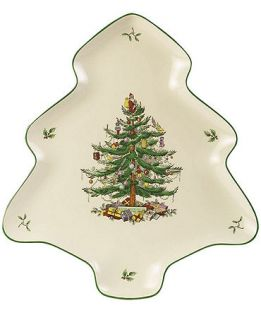 Spode Serveware, Christmas Tree Shaped Platter   Fine China   Dining & Entertaining