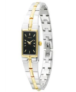Seiko Watch, Womens Solar Two Tone Stainless Steel Bangle Bracelet 18mm SUP084   Watches   Jewelry & Watches