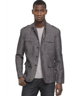 Kenneth Cole Reaction Jacket, Mock Neck Military Sportcoat   Blazers & Sport Coats   Men