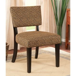 K&B Leopard Print Accent Chair Chairs