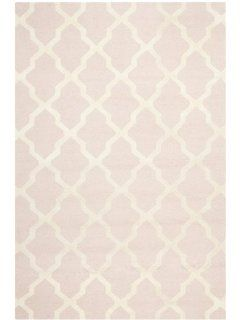 Safavieh CAM121M Cambridge Collection Handmade Wool Area Runner, 2 Feet 6 Inch by 4 Feet, Light Pink and Ivory   Pink Area Rug