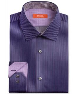 Tallia Slim Fit Sky Blue Stripe Dress Shirt   Dress Shirts   Men