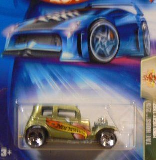 Tat Rods Series #2 Ford Vicky 1932 3 Spoke Wheels #2004 119 Collectible Collector Car Mattel Hot Wheels Toys & Games
