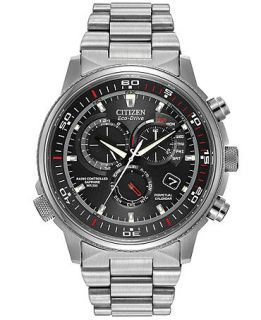 Citizen Mens Eco Drive Perpetual Chrono A T Stainless Steel Bracelet Watch 44mm AT4110 55E   Watches   Jewelry & Watches