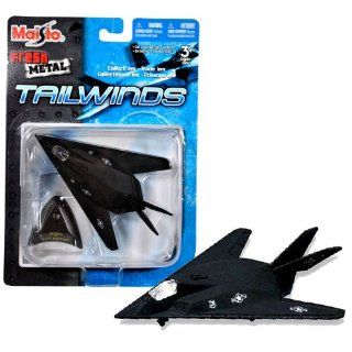 "Maisto Fresh Metal Tailwinds 1150 Scale Die Cast United States Military Aircraft   U.S. Air Force Stealth Ground Attack Aircraft F 117 Nighthawk with Display Stand (Dimension 3 1/2"" x 5 1/4"" x 1"") Toys & Games"