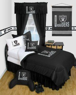 Oakland Raiders NFL TWIN Comforter WITH FREE Oakland Raiders PILLOWCASE   Locker Room Series  Other Products
