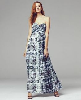 Calvin Klein Dress, Strapless Printed Gown   Dresses   Women
