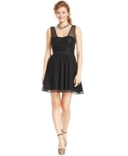 SL Fashions Sleeveless Tiered Belted Dress   Dresses   Women