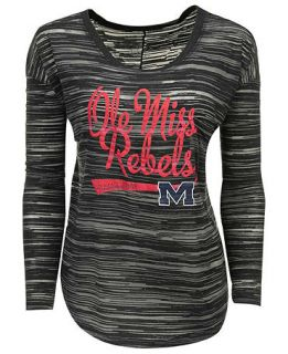 Blue 84 Womens Long Sleeve Mississippi Rebels Trouble Burnout Striped Top   Sports Fan Shop By Lids   Men
