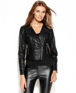 Bebe Leather Motorcycle Jacket   Jackets & Blazers   Women