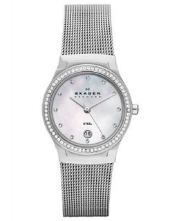 Skagen Denmark Watch, Womens Stainless Steel Mesh Bracelet 26mm SKW2042   Watches   Jewelry & Watches
