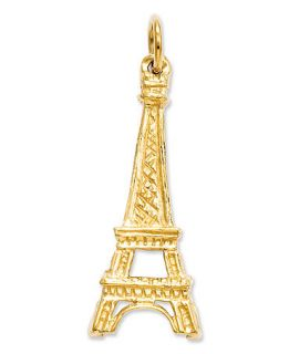 14k Gold Charm, Solid Eiffel Tower Charm   Jewelry & Watches