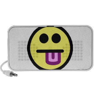 Yellow Tongue Out Smiley Face Notebook Speaker