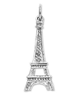 14k White Gold Charm, Solid Eiffel Tower Charm   Jewelry & Watches
