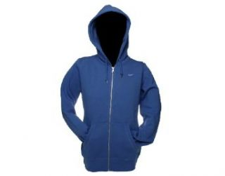 Nike Classic Fleece Full Zip Hoodie Womens Sweatshirt Small Lake Blue Clothing