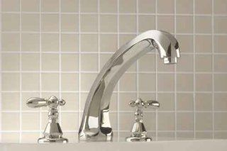 Mico 1255 L4 CP Grand Dame Polished Chrome Roman Tub Faucet with Handshower Cross   Bathtub Faucets
