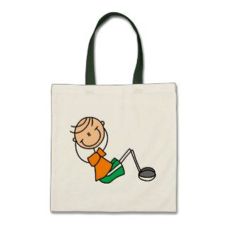 Stick Figure Exercising T shirts and Gifts Canvas Bag