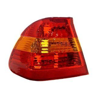 2002 2003 2004 2005 BMW 3 Series 325i 325xi 330i 330xi 4 Door Sedan Taillight Taillamp Rear Brake Tail Light Lamp (Quarter Panel Outer Body Mounted AMBER/RED Lens) Left Driver Side (02 03 04 05) Automotive