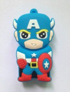 New Captain America USB 2.0 Memory Stick Flash Pen Drive 4gb Best Quality Cute Gift Fast Shipping Ship Worldwide From Hengheng Shop