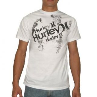 Hurley Mens Crew Neck Surf Short Sleeve T Shirt Small White Clothing