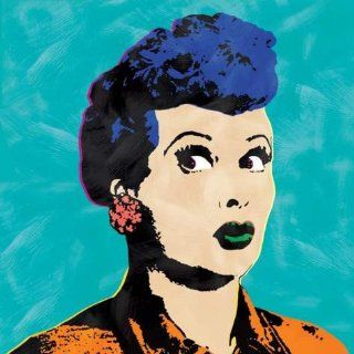 I Love Lucy Andy Warhol Style Pop Art Turquoise Canvas Wall Painting   Oil Paintings