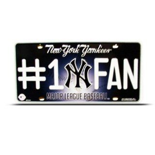New York Yankees Blue Mlb Metal Sport License Plate Wall Sign Tag Automotive