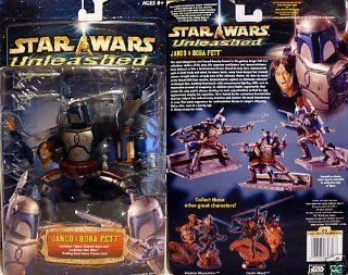 Star Wars Unleashed Jango and Boba Fett Deluxe Action Figure Set Toys & Games