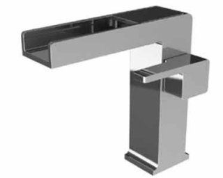 Watermark 35 1.15WF ED1 SEL Edge Satin Elite Brass (14K) Waterfall Single Handle Monoblock   Touch On Bathroom Sink Faucets